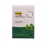 Post-it® Greener Notes, 4-Inch x 6-Inch, Helsinki Collection, 100 sheets per pad, 5 pads per pack