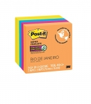 Post-it Super Sticky Notes, 3″ x 3″, Rio de Janeiro Colours, 5 Pads/Pack
