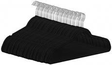 Premium Velvet Suit Hangers – 50 Pack – Heavy Duty – Non Slip – Velvet Suit Hangers Black