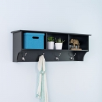 Prepac Sonoma Entryway Cubbie Shelf (Black)