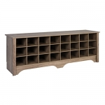 Prepac 60″ Shoe Cubby Bench, Drifted Gray