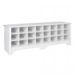 Prepac 60″ Shoe Cubby Bench, White