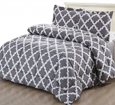 Printed Comforter Set with 2 Pillow Shams – Luxurious Soft Brushed Microfiber