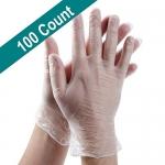 PROCTEX Clear Vinyl Food Gloves, 100 Ct, M