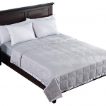 Puredown White Down Blanket with Satin Weave