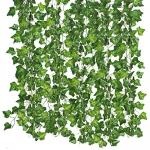 Qiantoucao Artificial Vines, 83Ft(12Pcs) Faux Ivy Leaves
