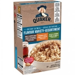 Quaker Instant Oatmeal 3-Flavour Variety