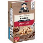 Quaker Instant Oatmeal, High Fibre, Raisins & Spice