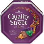 QUALITY STREET Imported Caramels; Crémes & Pralines; 725g Tin