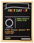 Quartet My First Day Framed Chalkboard, 11 X 14 Inches