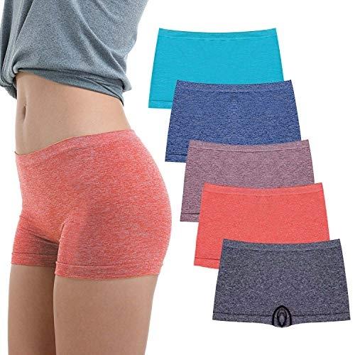 RUXIA Women's Boyshorts Panties, 5 Pack