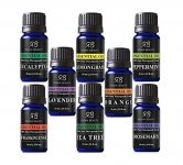Radha Beauty Aromatherapy Top 8 Essential Oils 100% Pure & Therapeutic grade – Basic Sampler Gift Set & Kit