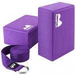 REEHUT Yoga Block Strap Set, Purple