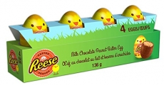 Reese's 3D Egg Chocolate 4 Pack, Multi, 136g, 4 Count
