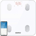 RENPHO Bluetooth Body Fat Weight Scale – Smart Digital Bathroom BMI Scale Wireless Body Composition Analyzer, White