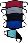 Reusable Cotton Face Mask Cover for Adults, Reversible, Pack of 5