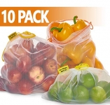 Reusable Produce Bags 10 Pack – Mesh Produce Bags