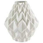 Rivet Modern Geometric Pattern Stoneware Vase