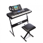 RockJam Electronic 61 Key Digital Piano Keyboard SuperKit with Stand, Stool, Headphones, & Includes Piano Maestro Teaching App with 30 Songs
