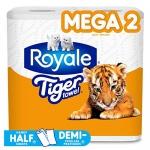Royale Tiger Strong Paper Towel, 2 Mega Rolls