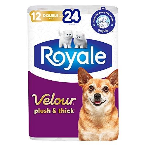 Royale Velour, Plush & Thick Toilet Paper, 12 = 24 rolls