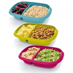 Rubbermaid 3.7 Cup Take Along On-the-Go Sandwich Food Storage Container (3 Pack)