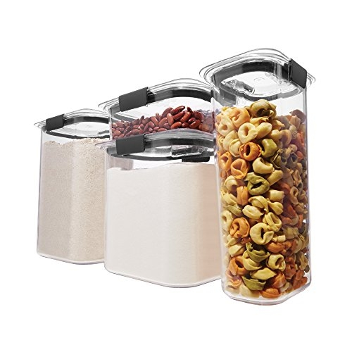 Rubbermaid Brilliance Food Storage Containers with Airtight Lids, Set of 4