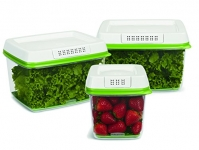 Rubbermaid FreshWorks Produce Saver Food Storage Containers, Set of 3