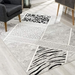 Rug Branch Montage Modern Area Rug (4×6 Feet) Abstract