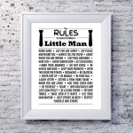 'Rules to Always Being a Little Man' Print