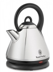 Russell Hobbs Electric Kettle, Dome Style Tea Kettle with Auto Shut Off, Cordless, Silver, 1.8L