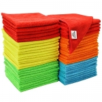 S & T Microfiber Cleaning Cloths, 50 Pack