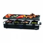 Salton 8 Person Raclette Indoor Electric Cheese Party Grill with Reversible Grill & Griddle Plate