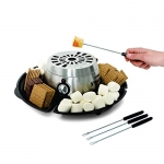 Salton Treats Indoor Electric Stainless Steel S'Mores Maker and Fondue Warmer