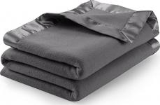 Sateen Polar Fleece Blanket (Queen, Grey)