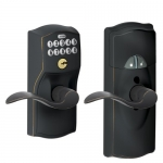 Schlage FE599NX CAM Home Keypad Deadbolt with Nexia Home Intelligence – ACCENT x CAMELOT (Works with Amazon Alexa)