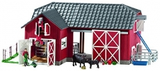 Schleich Farm World Large Red Barn with Animals & Accessories Toy Figure