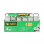 Scotch Magic Tape, 6 Rolls in Dispensers