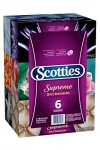 Scotties Supreme Facial Tissue, 3-ply, 88 sheets per box – 6 Pack