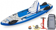 SeaEagle New HB96 Hybrid 9-Feet6 Inflatable Boat SUP Deluxe Package