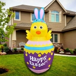 SEASONBLOW 5 FT LED Inflatable Easter Chick