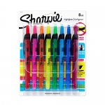 Sharpie ACCENT Highlighter, RETRACTABLE Highlighter Narrow Chisel, 8-Carded, Fluorescent Assorted