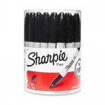 Sharpie Fine Point Permanent Marker, Canister with 36 Pens, Black