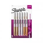 Sharpie Metallic Fine Point Permanent Marker, Pack of 6
