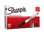 Sharpie TWIN TIP Marker Permanent, Permanent Marker Fine + Ultra Fine, 12 Pack, Black Ink