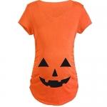 ShiyiUP Pregnancy Halloween Shirt, Cute Pumpkin