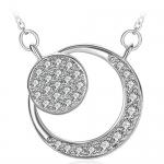 ZHULERY Fine Jewelry Cubic Zirconia Moon Pendant Necklace