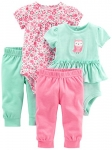 Simple Joys by Carter's Girls' 4-Piece Bodysuit and Pant Set
