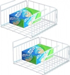 SimpleHouseware 2 Pack Under Shelf Basket, White