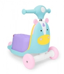 Skip Hop Kids 3-in-1 Ride On Scooter and Wagon Toddler Toy, Unicorn